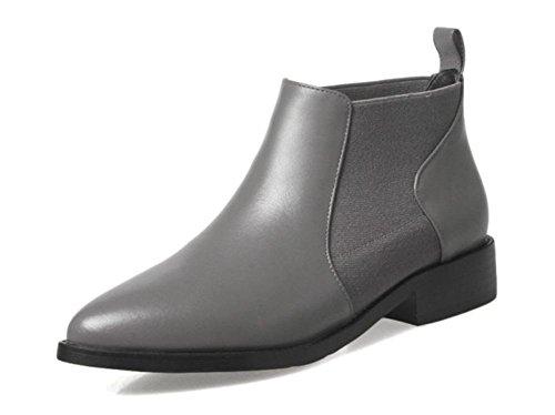 Frühling und Herbst Martin Stiefel weibliche Stiefel weibliche zeigte flache Schuhe Grey