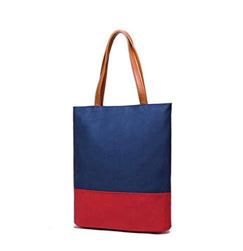 LYX® Freizeittasche, Vertikalschnitt Schultertasche Einfache Tasche Big Bag Fashion Handtasche Lady Taschen Royal Blue (Farbe : Blau)