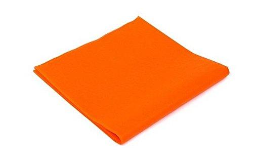 Tovaglia tnt 100x100cm 25 pezzi arancio coprimacchia per ristoranti e pub
