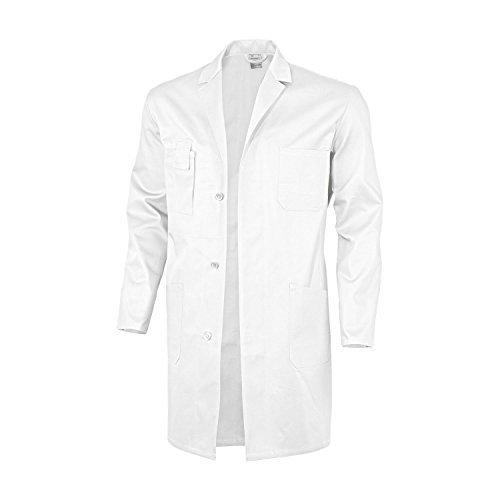 Weißer Kostüm Mantel Arzt - Qualitex Berufsmantel-Basic 100% CO 240 G/M² Farbe Weiss Größe 46