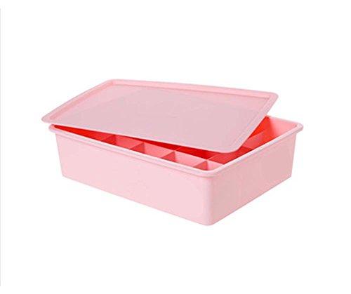 15 Raster mit Deckel Toy Debris Kosmetik Aufbewahrungsbox-Pink