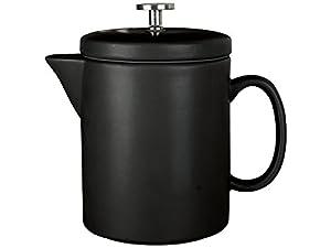 La Cafetière Barcelona Contemporary Ceramic French Press Coffee Maker, 900 ml (1.5 Pints/6 Cups) - Black