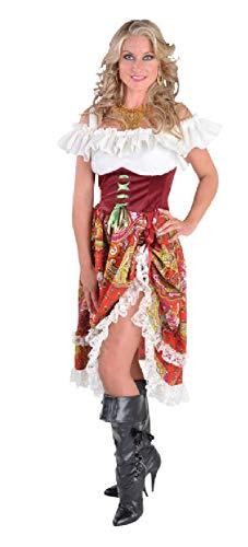 Kostüm Ungarn - narrenkiste M212106-XL Bordeaux-rot Damen Zigeuner Kleid Ungarisches Kostüm Gr.XL