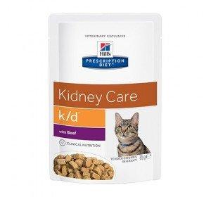 Hill's Prescription Diet Feline K/D Santé Rénale Nourriture pour Chat Sachets 12x85g B½uf
