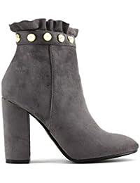 7049e961a39 Amazon.es  botines grises - 36   Zapatos para mujer   Zapatos ...