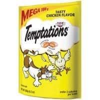 WHISKAS TEMPTATIONS Treats for Cats MEGA BAG Tasty Chicken by Whiskas (English Manual)