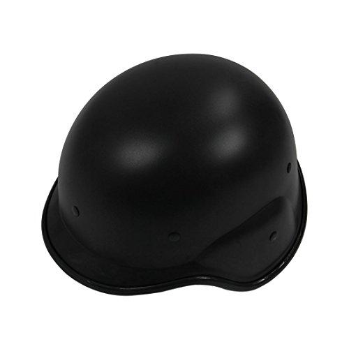 SODIAL(R)) Casco Tactico Militar Swat Helmet Negro Protector Correas Ajustables
