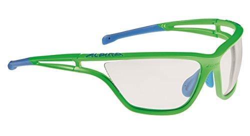 Alpina Erwachsene Eye-5 VL+ Outdoorsport-Brille, Neongreen Matt-Blue, One Size