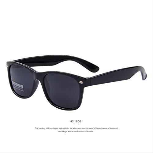 MJDL Männer Polarisierte Sonnenbrille Klassische Männer Retro Niet Shades Markendesigner Sonnenbrille Uv400 C01