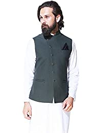 33886d2b193 Amazon.in  Greens - Nehru Jackets   Ethnic Wear  Clothing   Accessories