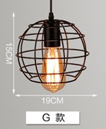 Self-My Deckenbeleuchtung Industrial Air Kreative Persönlichkeit Bar Die Straße North European Iron Bar Wohnzimmer Schlafzimmer G Punkt Rust-Colored Keine Optische Quelle Kronleuchter (Auf Halbem Weg Punkt)