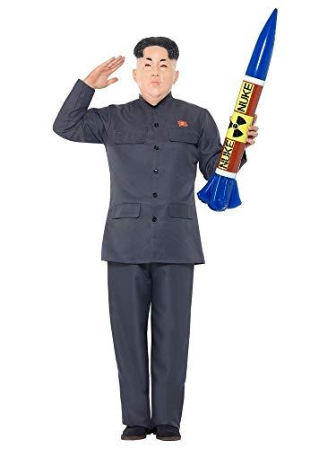 shoperama Kim Jong-un Herren Kostüm mit Maske Jacke Hose Diktator Korea Karneval Politiker, Größe:XL