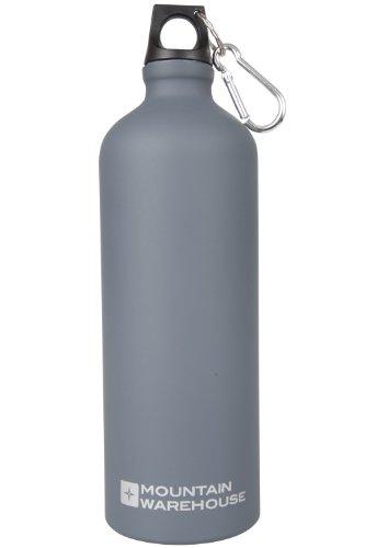 online retailer 34fa8 04d63 Mountain Warehouse Botella Gris del Final Mate 1L - Botella del Agua del  encierro de la