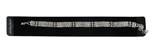 eshoppee American Diamond silver bracelets for girls and women