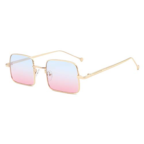Yiph-Sunglass Sonnenbrillen Mode New Golden Small Border Sonnenbrillen Female Square Retro Driving Brillen Herren UV400 Schutz Blau Rosa Verlaufsglas