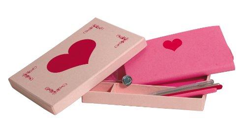 Siegel - Schreibset Herz 25-teilig mit Umschlägen Siegellack Briefpapier