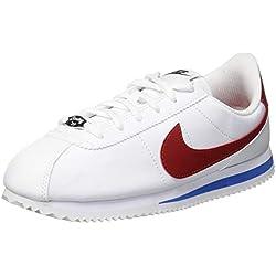 Nike - Cortez Basic Sl (gs), Zapatillas de Gimnasia Niñas, Blanco (White/Varsity Red-Varsity Roya 103), 38 EU