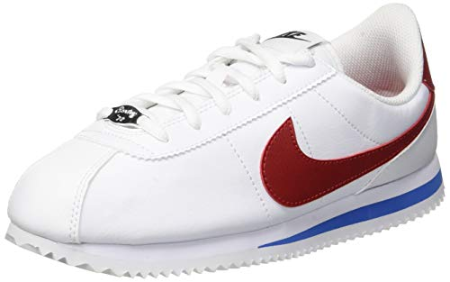 on sale 1c4c8 09cf9 Nike Cortez Basic Sl Gs Kids Trainers White Red - 5.5 UK