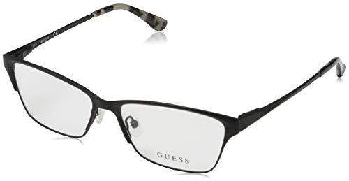 Guess Damen Brille Gu2605 53002 Brillengestelle, Schwarz, 53