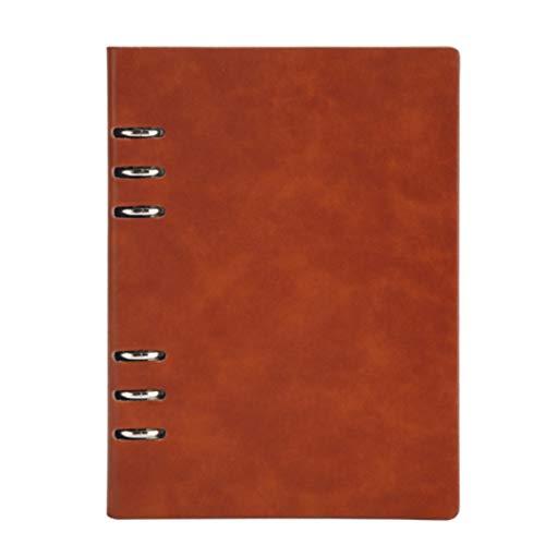 Cuaderno notas A5 piel diseño hojas sueltas cuaderno