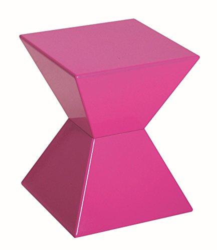 Haku-Möbel Beistelltisch aus Kunststoffguß, hochglanz lackiert