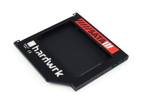 """hardwrk SATA3-Adapter für Apple MacBook (Pro) 13"""" 15"""" 17"""" - Caddy (ersetzt SuperDrive) - 9,5 mm Festplattenrahmen Einbaurahmen (SATA auf SATA)"""