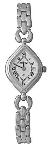 Bernex Swiss Made - Reloj de mujer de cuarzo (suizo), correa de rodio color plata