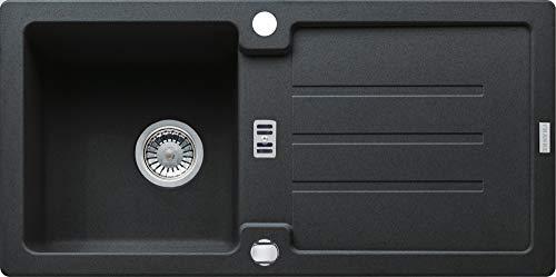 Franke Strata STG 614 Onyx Fragranit Spülbecken Schwarz Auflagespüle Küchenspüle