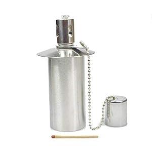 Öllampe Einsatz - Ölbehälter Gartenfackel - Edelstahl - ca. 65 CCM Inhalt - EIN Qualitätsprodukt von Hannas Laden