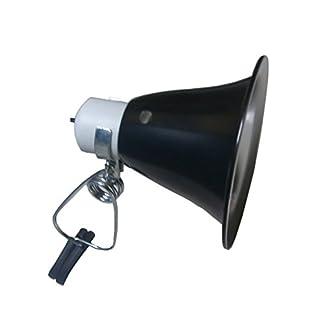 Clamp Lamp Reflector Dome Black/ White 75W For Reptile Vivarium 31LRyTEfiCL