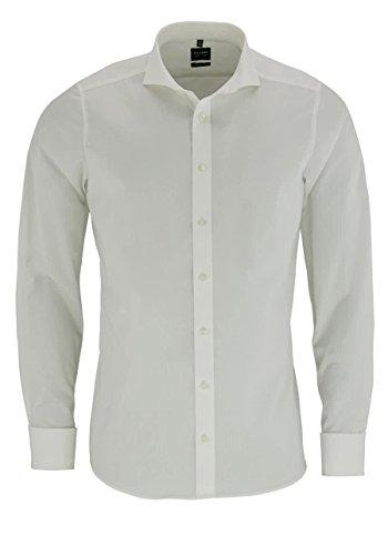 OLYMP Herren Hemd Level 5 Body Fit Langarm offwhite (20) 39