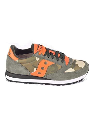 Saucony Scarpe Uomo Sneakers Basse S2044-536 Jazz Original Taglia 42 Camouflage-Arancio