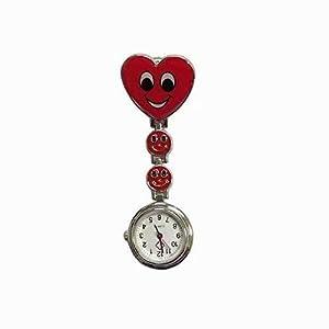 Design Krankenschwesteruhr Damenuhr Smiley Herz Design Krankenschwesteruhr Quarzuhr Damenuhr Taschenuhr mit Clip