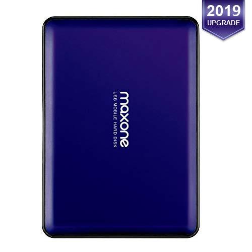 Disque Dur Externe Portable 160Go-2.5' USB3.0 HDD Stockage pour PC, Mac, Ordinateur de Bureau, Ordinateur Portable, Wii U, TV(Blue)