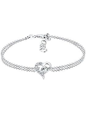 Elli Damen-Armband Herz 925 Sterling Silber Swarovski Kristalle 17 cm 0206371016_17