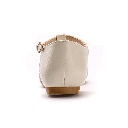 Alexis Leroy Classiques Ballerines Bout Pointu T-Strap Chaussures femme Blanc