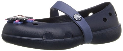 Crocs Keeley Springtime Ps, Mädchen Clogs, Blau (Navy/Bijou Blue 42T), 25/26 EU