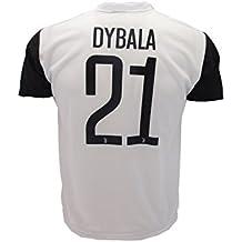 Camiseta de Fútbol PAULO DYBALA 21 Juventus NUEVA Temporada 2017-2018 Replica OFICIAL con LICENCIA - Todos Los Tamaños NIÑO y ADULTO (4 AÑOS)