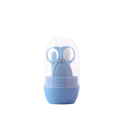 HUXINFEI Baby Pflege Set 4 Stück Nail Clipper Set tragbare Sicherheit Essentials Neugeborenen Baby Pflege Kit,Blue -