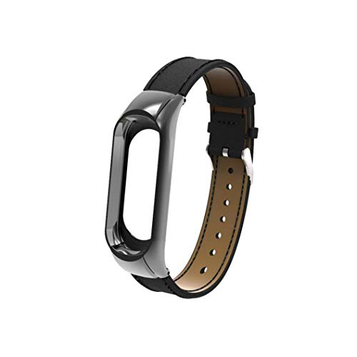 para Xiaomi Mi Band 3, ☀️Modaworld Correa de Banda de Pulsera de Repuesto + Funda de Metal para Xiaomi Mi Band 3 Bracelet Correas de Reloj y Carcasa Protector (Negro)