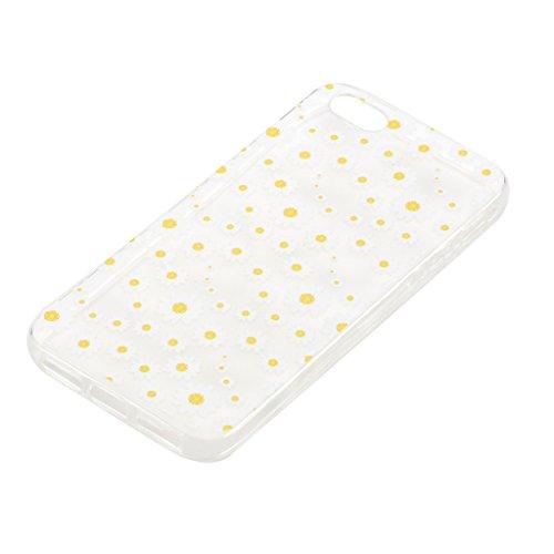 Per iPhone 5S / 5 / SE Cover , YIGA Moda arancione cibo Cristallo Trasparente Cassa Silicone Morbido TPU Case Caso Custodia Protettiva Shell per Apple iPhone 5S / 5 / SE HX57