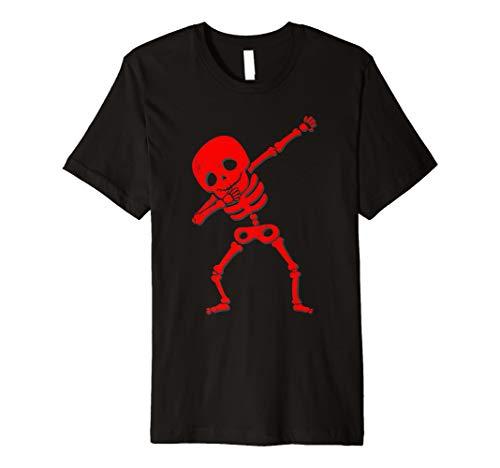 Sanftes Skelett rot Totenkopf Halloween DAB Kostüm Shirt