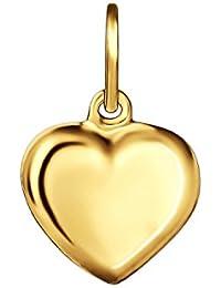 CLEVER SCHMUCK Goldener Anhänger kleines Herz 8 mm beidseitig plastisch gewölbt glänzend 333 GOLD 8 KARAT
