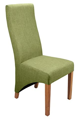 Shankar Baxter Linen Effect Upholstered Dining Chairs, Lime, Set of 2