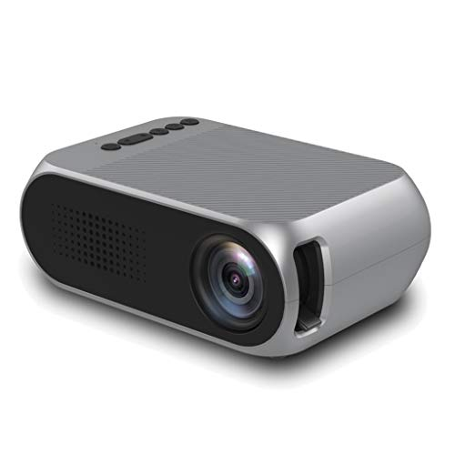 JCOCO Tragbarer, wiederaufladbarer Videoprojektor - Unterstützt 1080P, 60 Zoll - Kompatibel für PC/Mac/TV/DVD/iPhone/iPad/USB/SD/AV/HDMI für Heimkino/Outdoor/Videospiele (1080p Tv 60 Zoll)