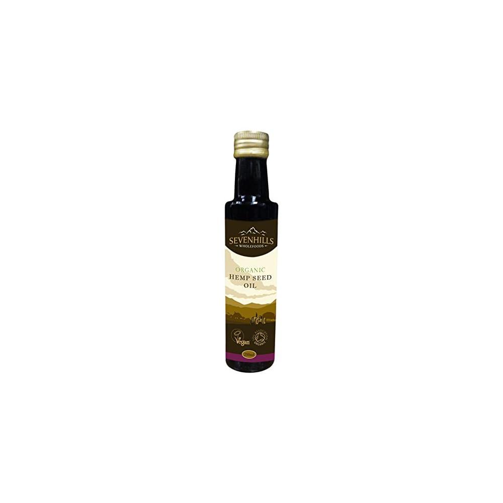 Sevenhills Wholefoods Organisches Rohes Kalt Gepresstes Hanfsamenl Vegan Zum Backen Salate Hautfeuchtigkeitscreme Haarsplung