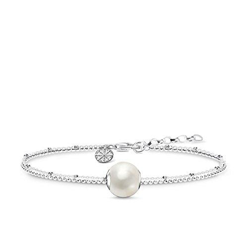 THOMAS SABO Damen Perlenarmband 925er Sterlingsilber SET0353-082-14