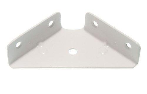 Lot von 50 Corner Bracket 64mm Sq. 18mm Tiefe weiß lackiertem Stahl (Lackiertem Stahl)