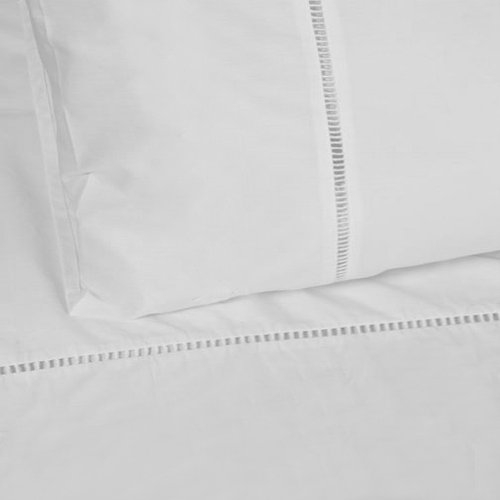 Linens Limited 100% Cotton Percale 1000 Thread Count Duvet Cover, White, Super King