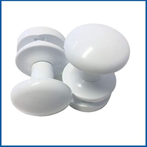2 Stück Weiß Handtuchhalter Bademantelhalter Handtuchhaken Handtuchaufhänger für Badheizkörper
